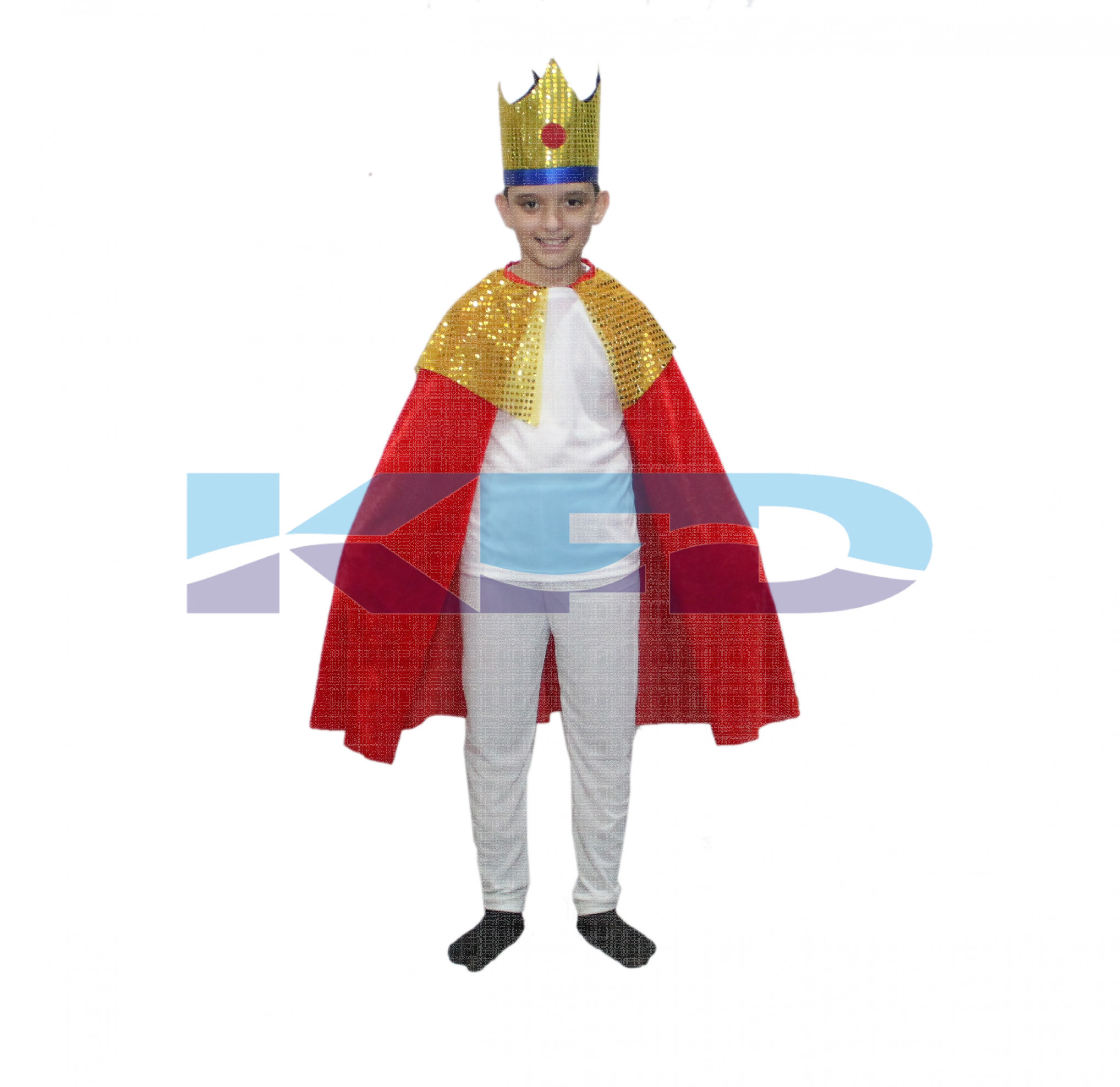 King Robe Red For Kids/Cloak King Robe/California Costume/For Kids Annual function/Theme Party/Competition/Stage Shows/Birthday Party Dress