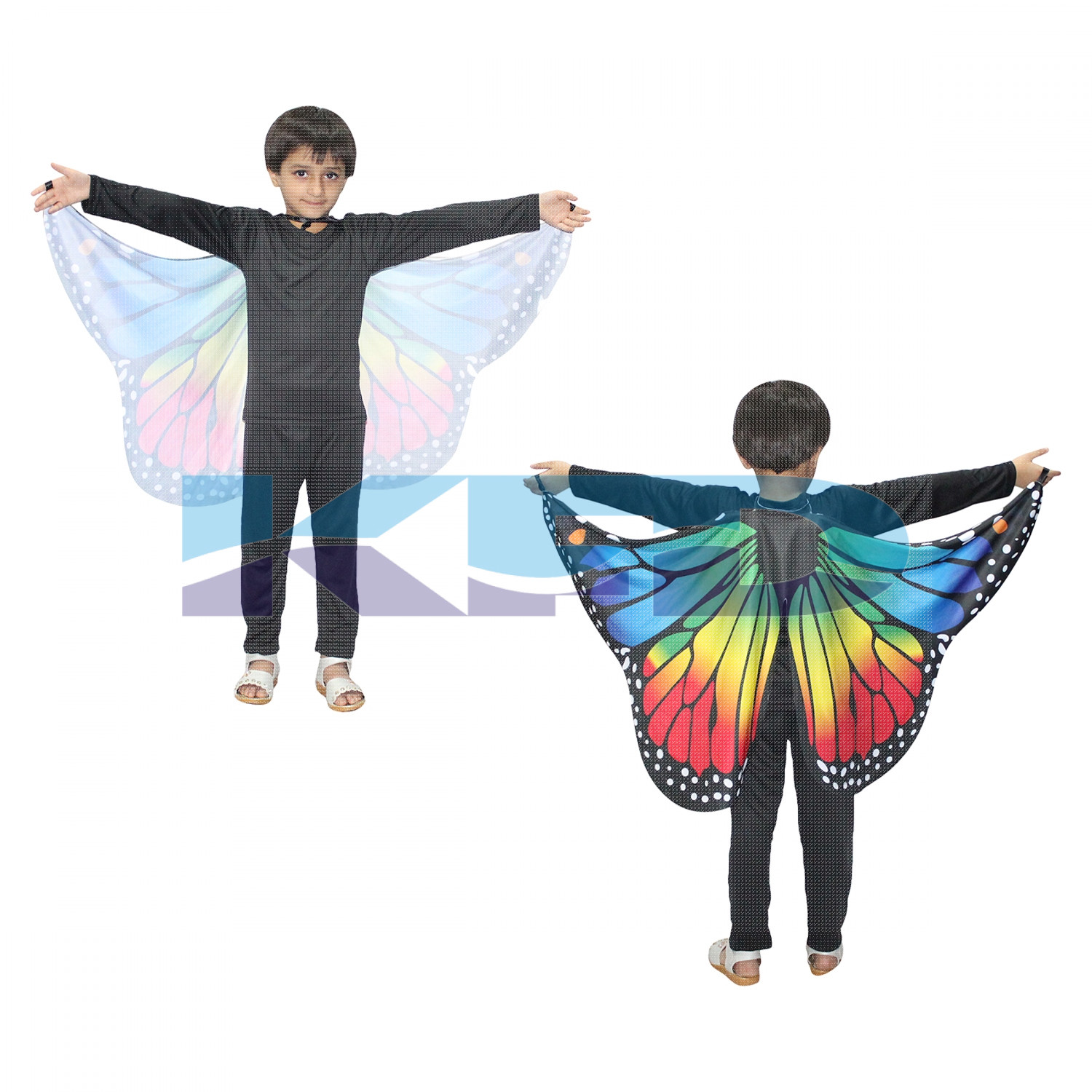 Dance Fairy Belly Dance Wings/Butterfly Wings/butterfly wings fabric/Egypt Belly Soft Fabric Wings Dancing Costume/For Kids Annual function/Theme Party/Competition/Stage Shows/Birthday Party Dress