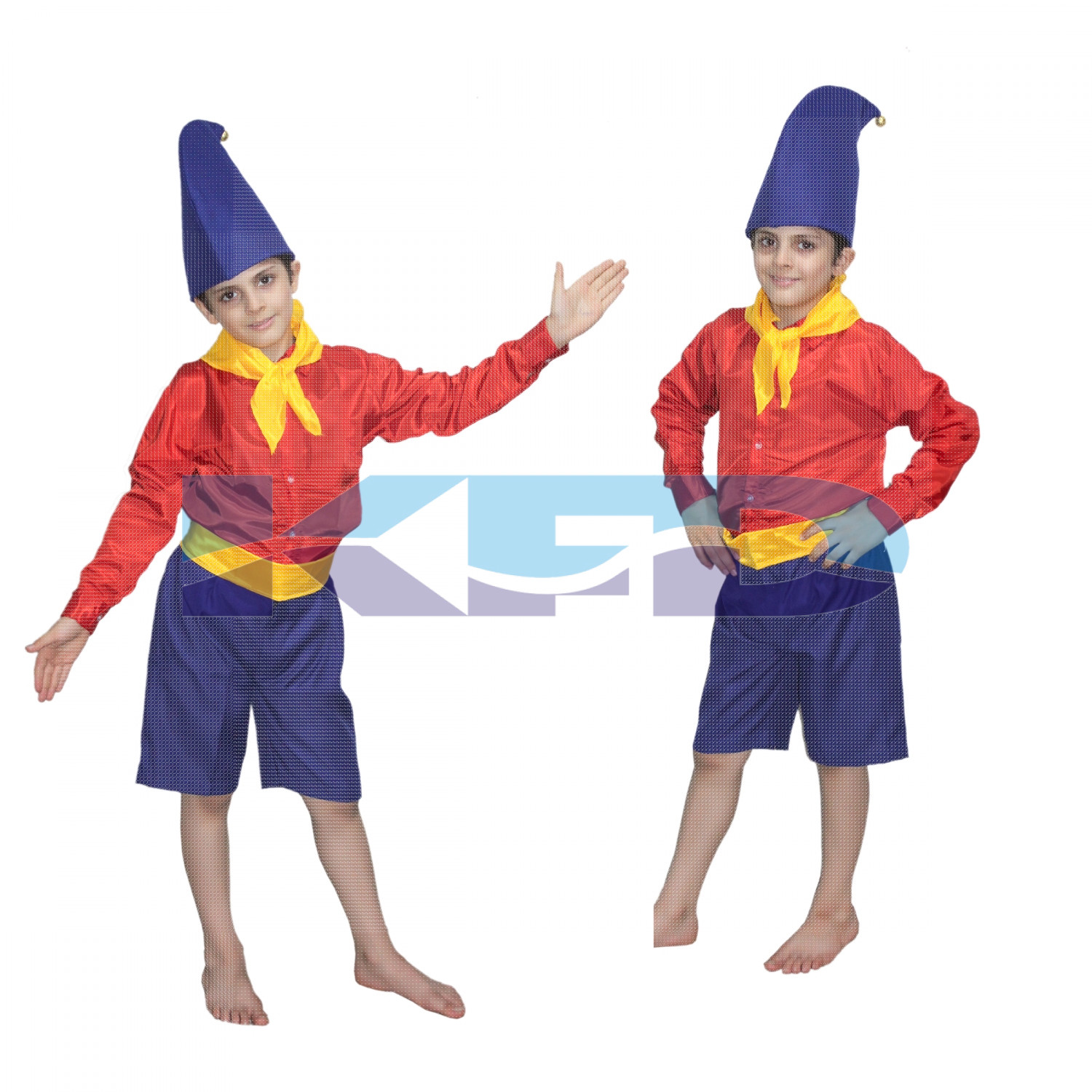 Noddy Cartoon Fancy dress for kids,Costume for Annual function/Theme Party/Stage Shows/Competition/Birthday Party Dress
