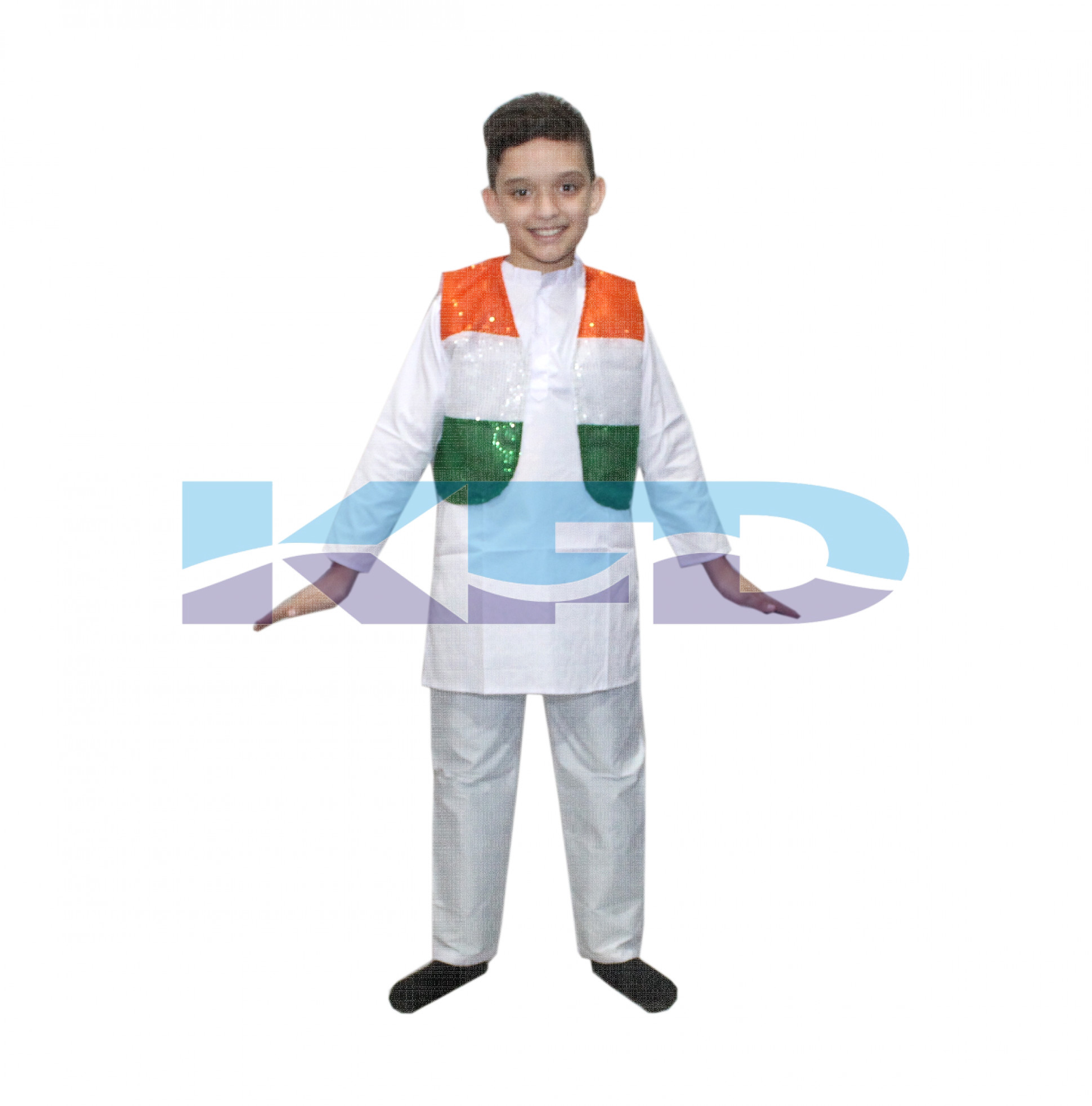 Tri Color Jacket Costume For Kids Independence Day/Republic Day/School Annual function/Theme Party/Competition/Stage Shows/Birthday Party Dress