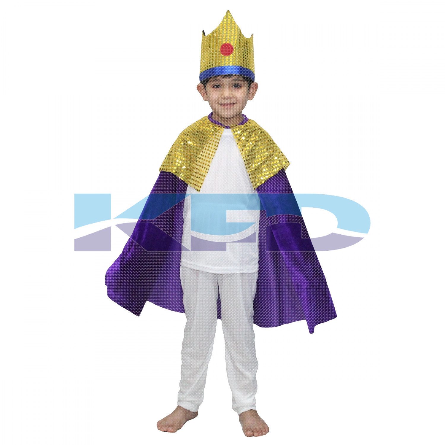 King Robe Purple For Kids/Cloak King Robe/California Costume/For Kids Annual function/Theme Party/Competition/Stage Shows/Birthday Party Dress