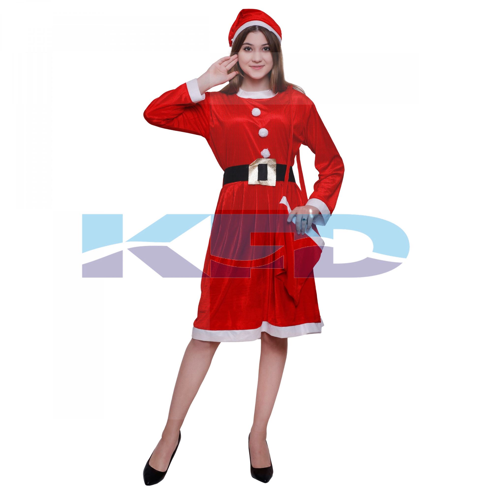 Santa Girl New Costume For Kids Christmas Day/School Annual function/theme party/competition/Stage Shows/Birthday Party Dress