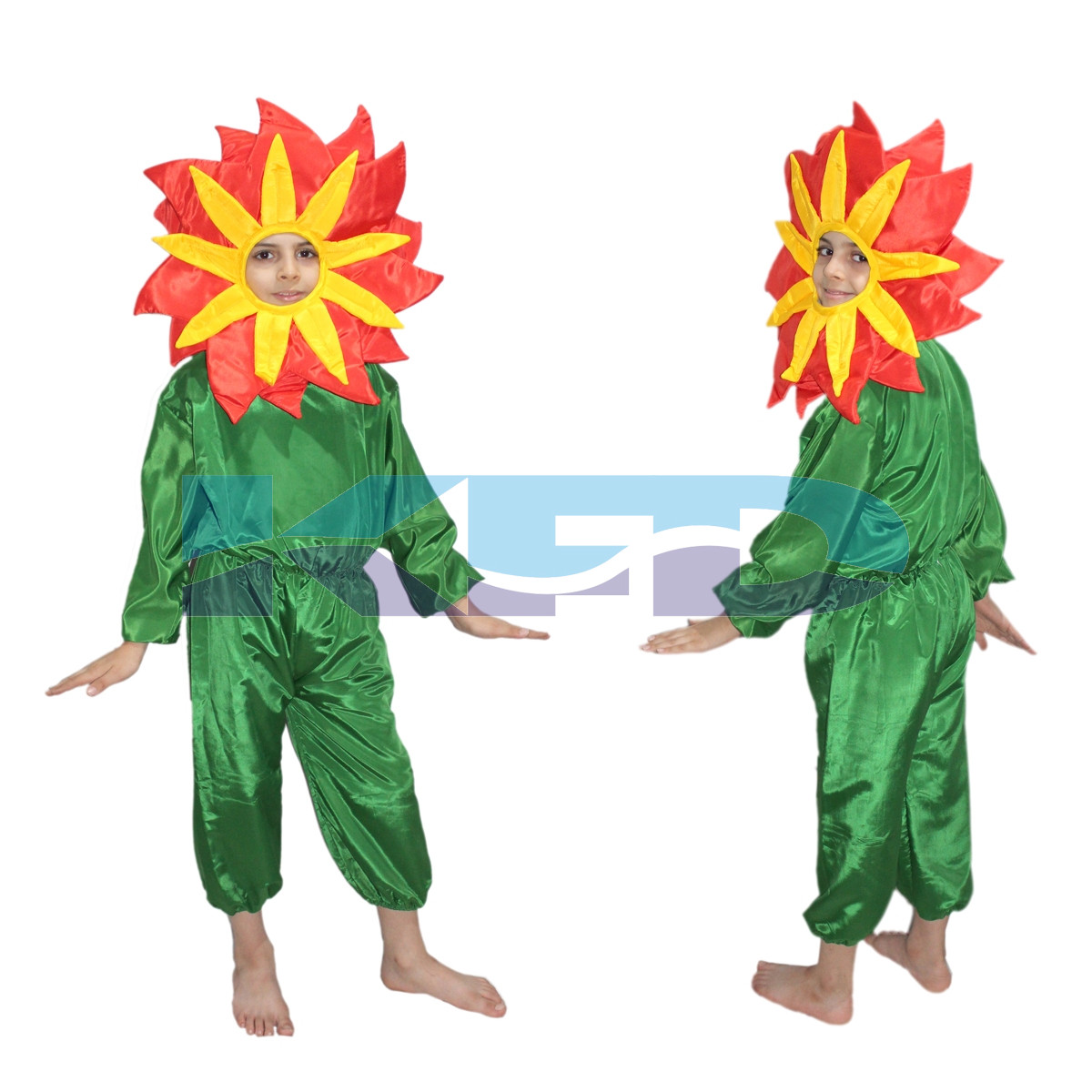 Red flower fancy dress for kids,Nature Costume for Annual function/Theme Party /Stage Shows/Competition/Birthday Party Dress