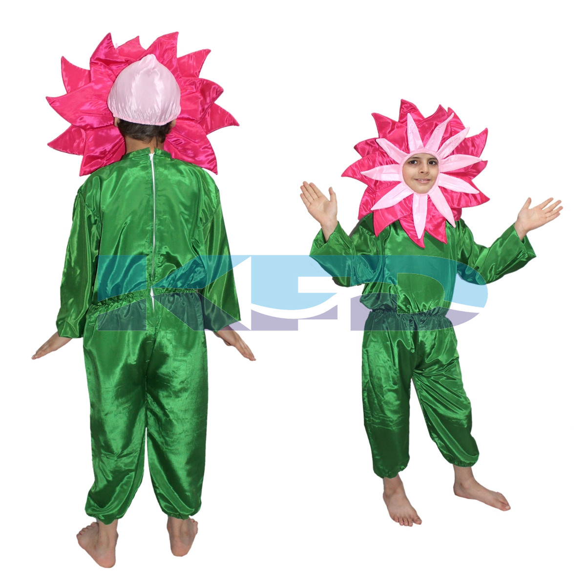 Pink flower fancy dress for kids,Nature Costume for Annual function/Theme Party/Stage Shows/Competition/Birthday Party Dress