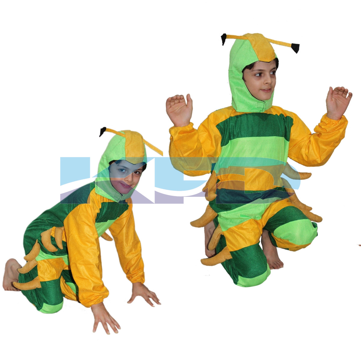 Caterpillar fancy dress for kids,Insect costume for School Annual function/Theme Party/Competition/Stage Shows Dress