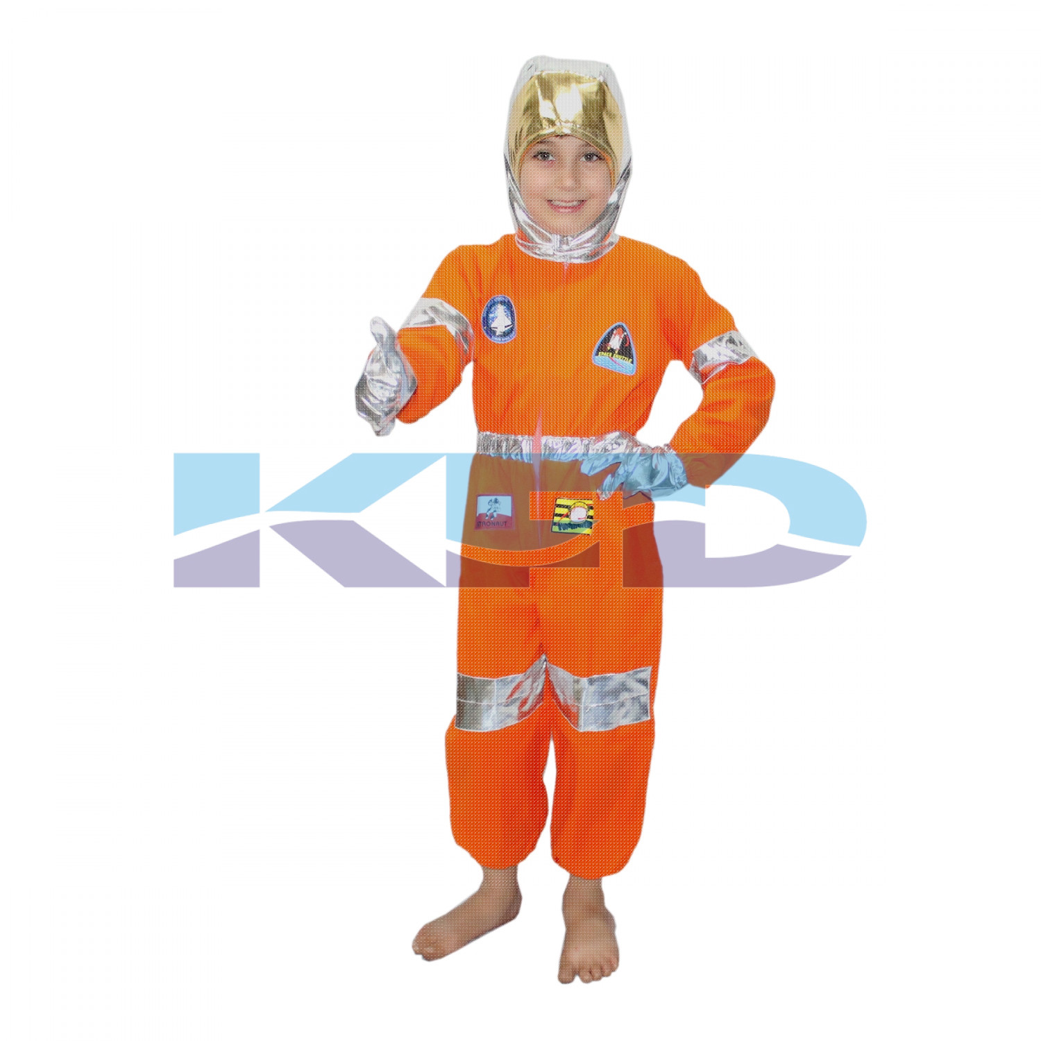 Astronaut Orange CosPlay Costume,Space Costume For Kids School Annual function/Theme Party/Competition/Stage Shows/Birthday Party Dress