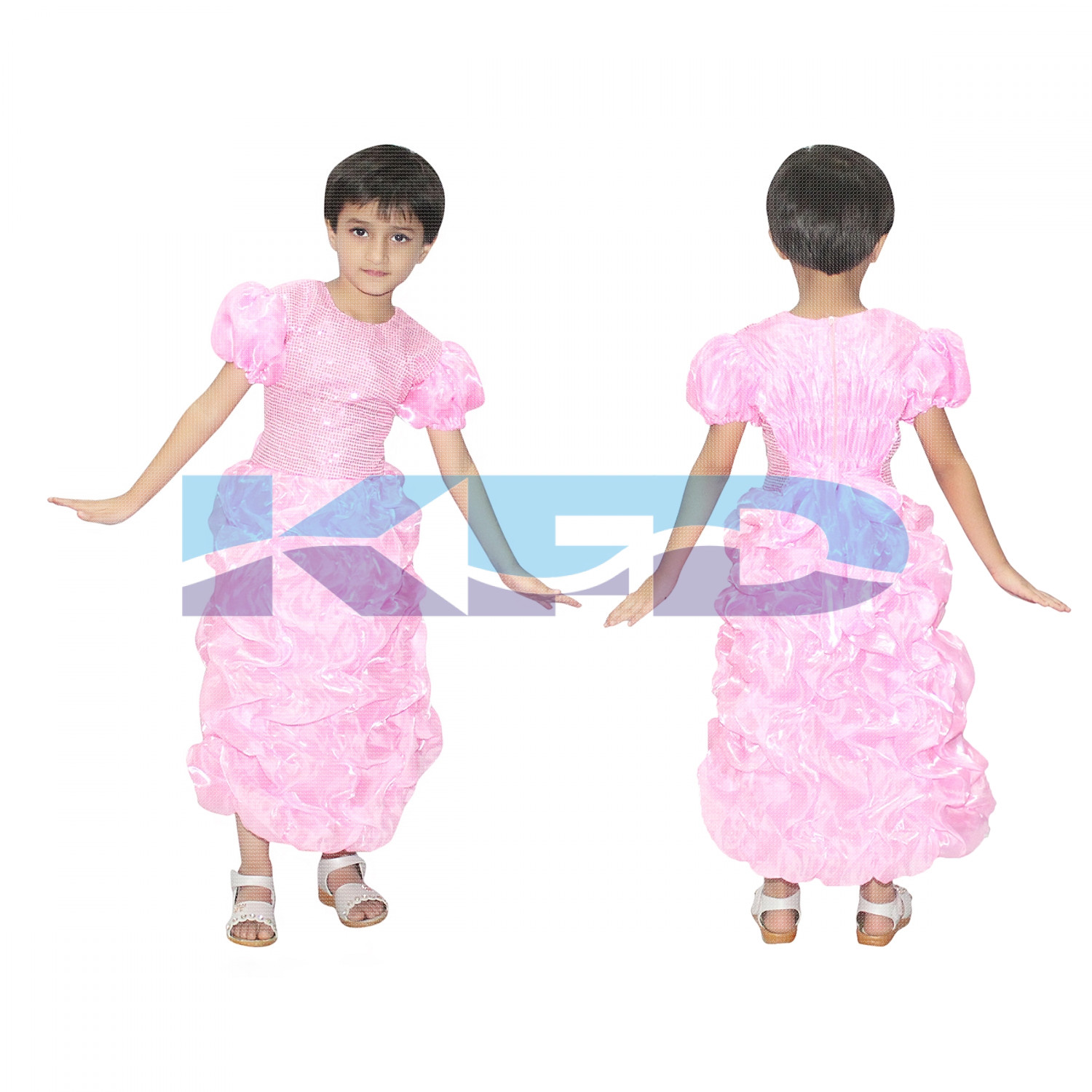 Pink LCD Gown,Fairy Tales Costume For School Annual function/Theme Party/Competition/Stage Shows/Birthday Party Dress