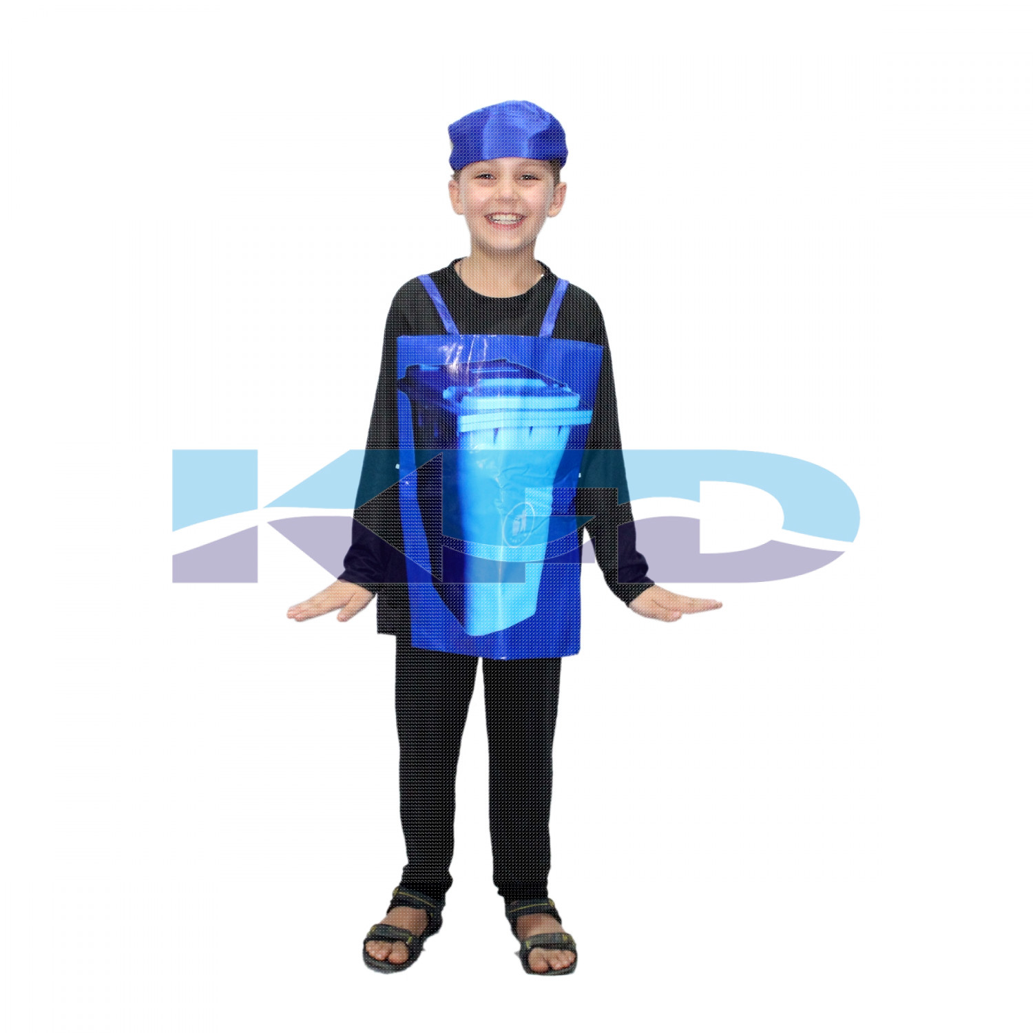 Dustbin Costume For Kids/Social Message Hygiene Costume/Cosplay Costume/For Annual function/Theme Party/Competition/Stage Shows/Birthday Party Dress