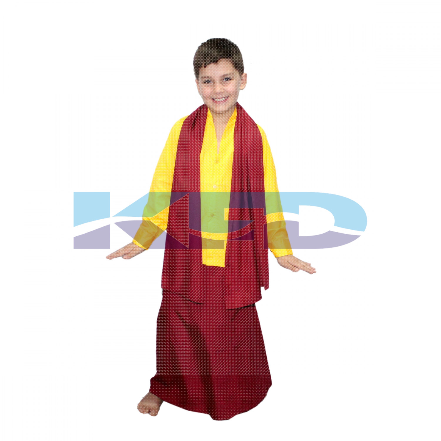 Buddha Fancy Dress Costume/Shaolin Costume For Kids/Tibetan Monk Costume For kids/Theme Party/Competition/Stage Shows/Birthday Party Dress