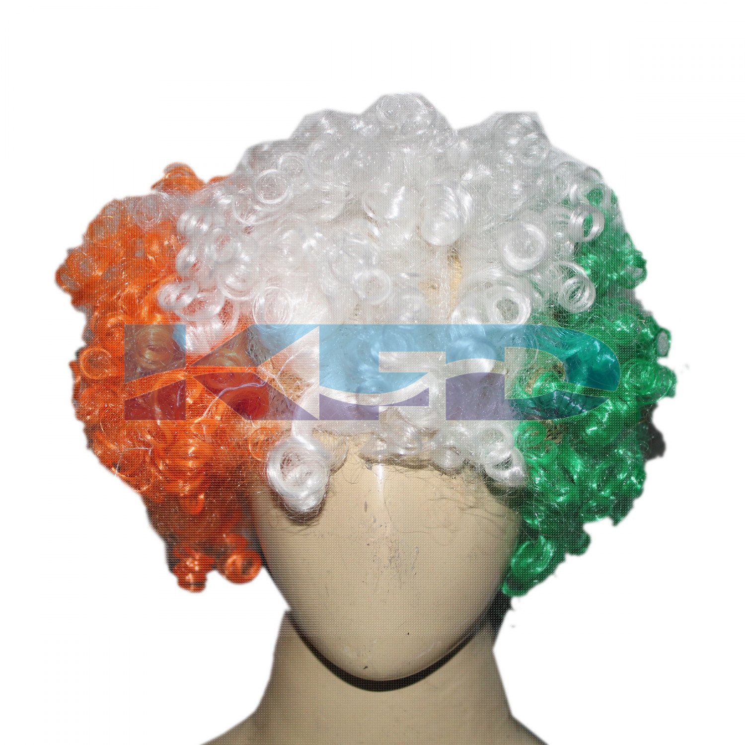 Tri color wig/Independence Day/Republic Day/School Annual function/Theme Party/Competition/Stage Shows/Birthday Party Dress