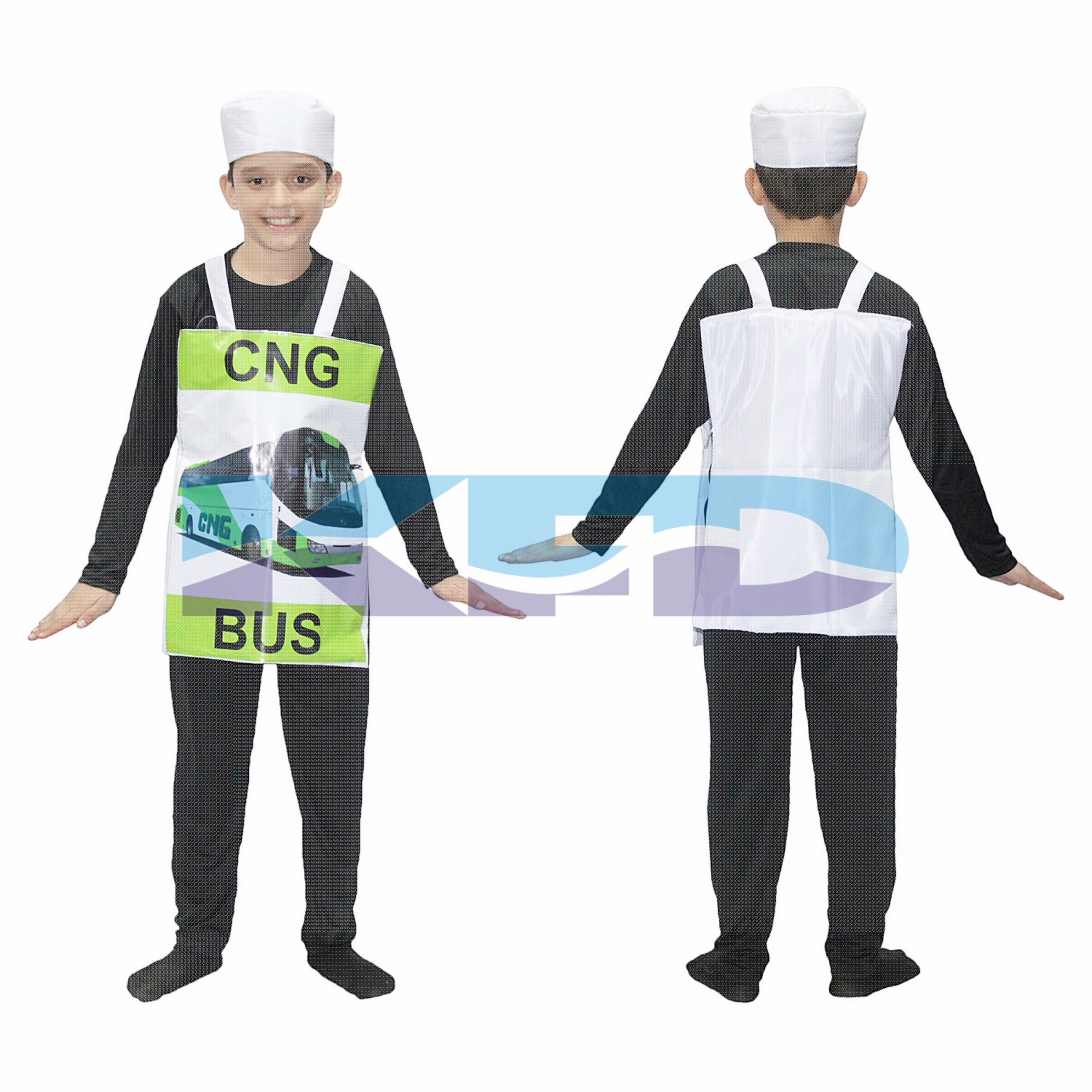 CNG Bus Vehicle Fancy Dress/Public Travel Bus Costume For Kids/For Kids Annual function/Theme Party/Competition/Stage Shows/Birthday Party Dress