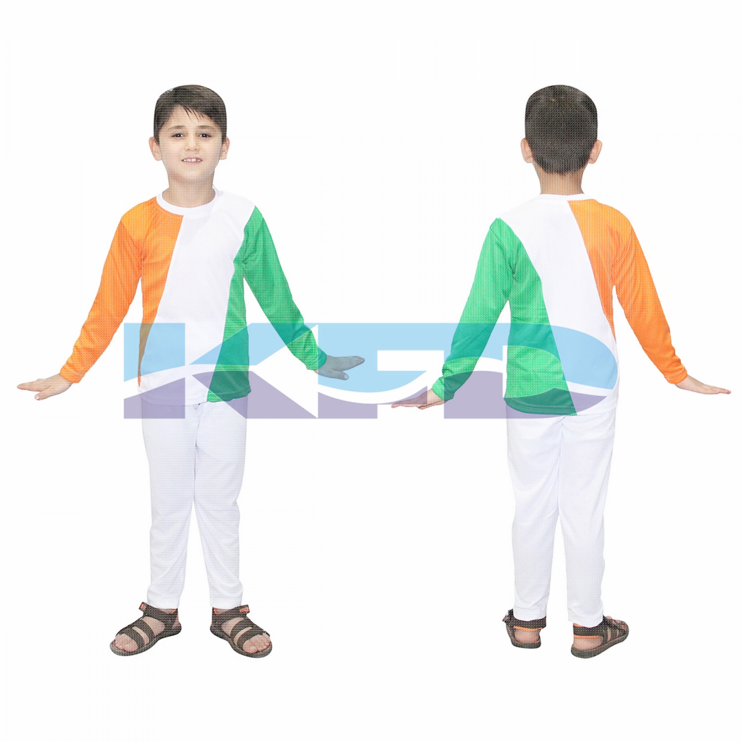 Tri Color Track Suit fancy dress for kids,Western Costume for Annual function/Theme Party/Competition/Stage Shows/Birthday Party Dress