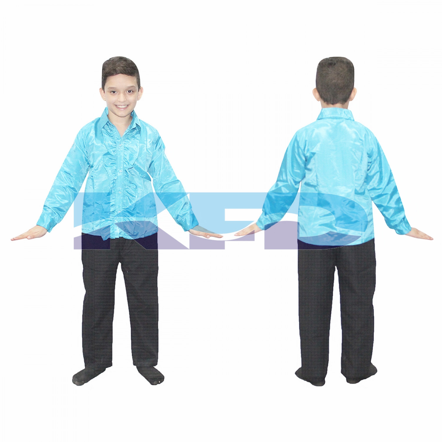 Firozi Frill Shirt fancy dress for kids,Western Costume for Annual function/Theme Party/Competition/Stage Shows/Birthday Party Dress laten dance/salsa dance