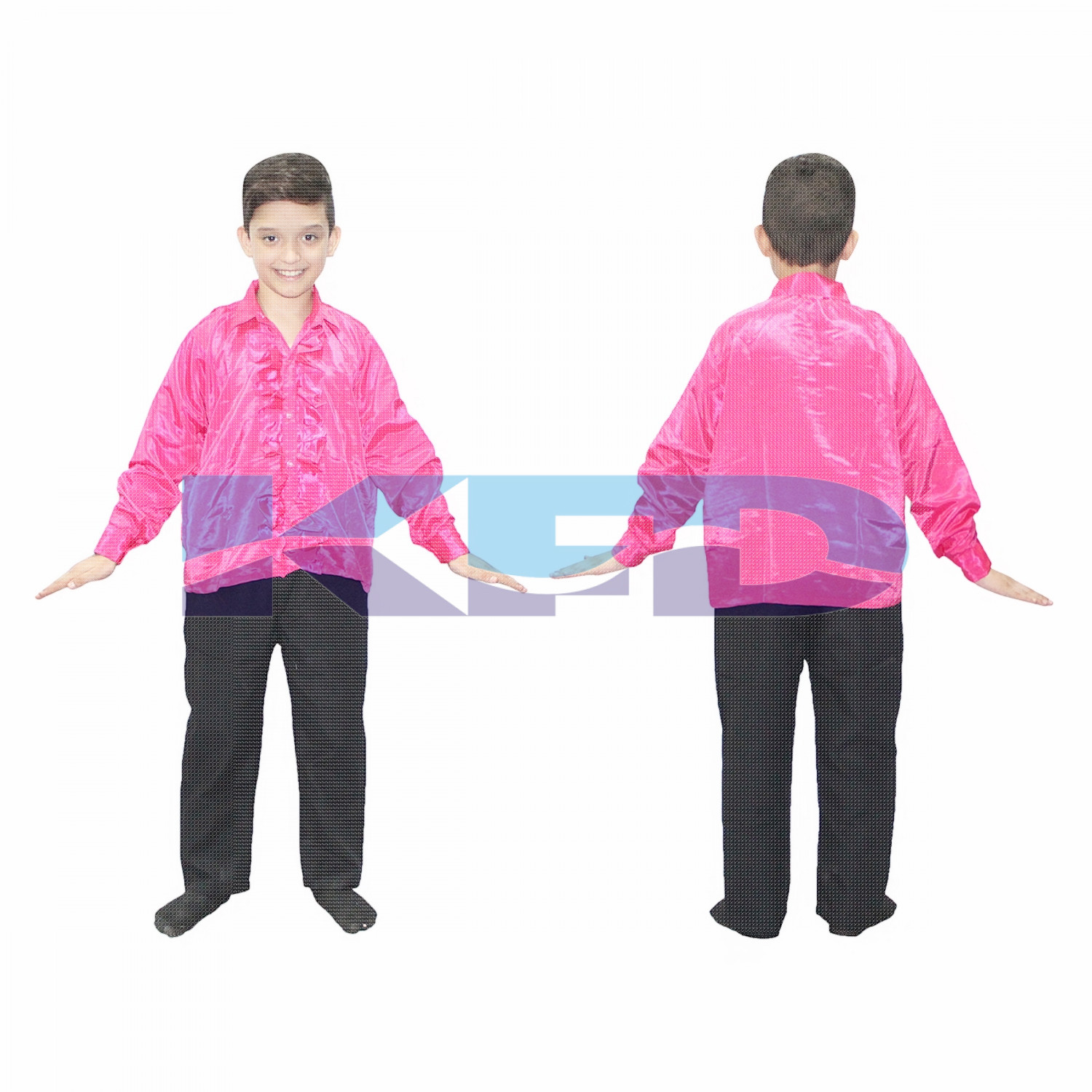Mazanta frill Shirt fancy dress for kids,Western Costume for Annual function/Theme Party/Competition/Stage Shows/Birthday Party Dress laten dance/salsa dance