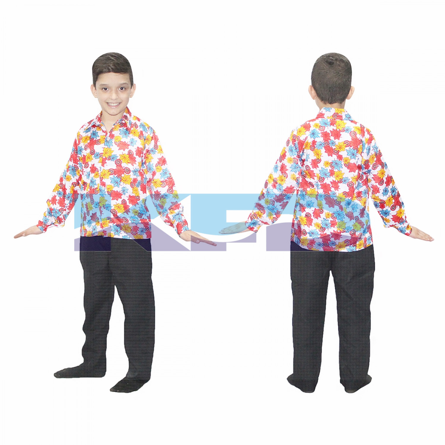 Flower Print Shirt fancy dress for kids,Western Costume for School Annual function/Theme Party/Competition/Stage Shows/Birthday Party Dress laten dance/salsa dance