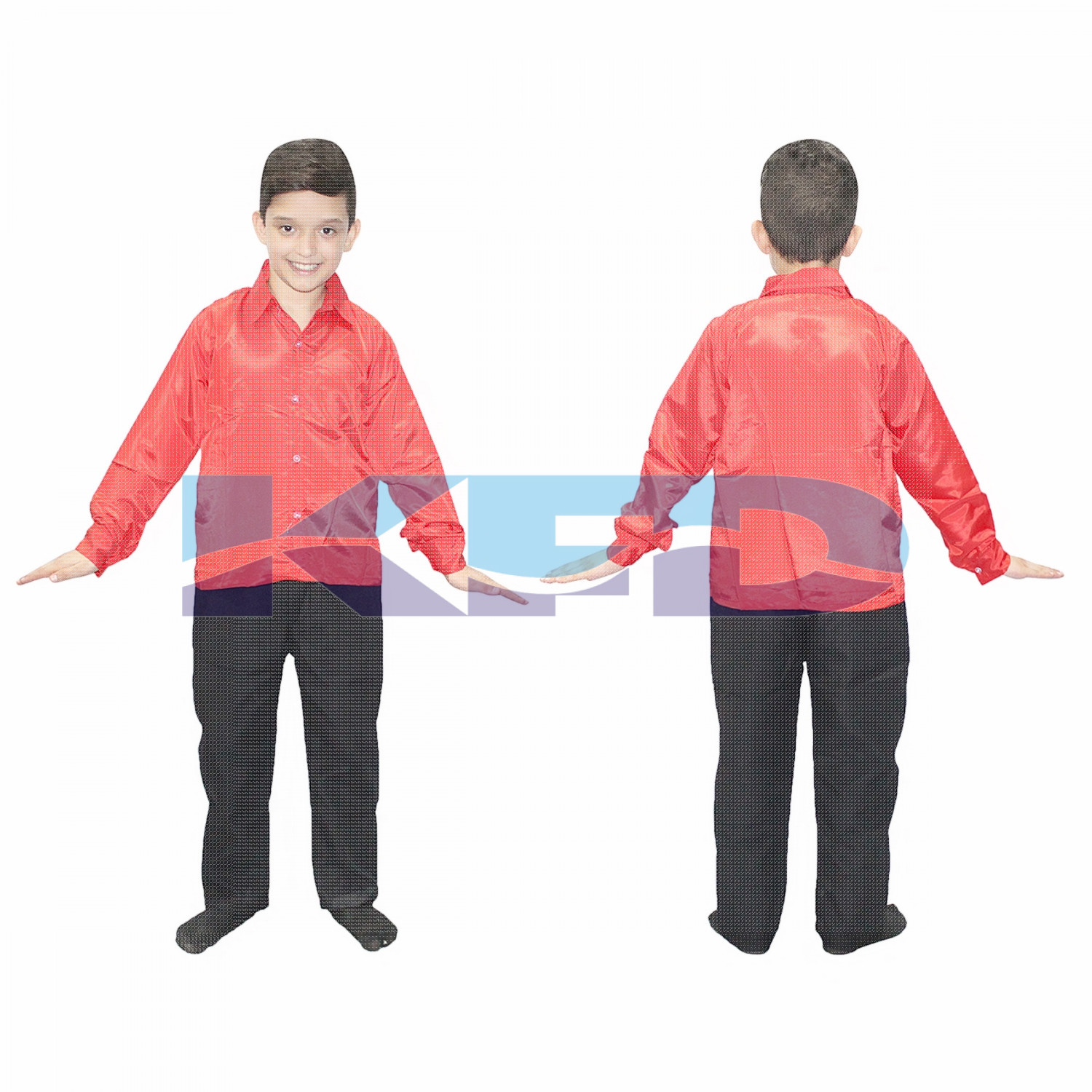 Red shirt fancy dress for kids,Western Costume for Annual function/Theme Party/Competition/Stage Shows/Birthday Party Dress laten dance/salsa dance