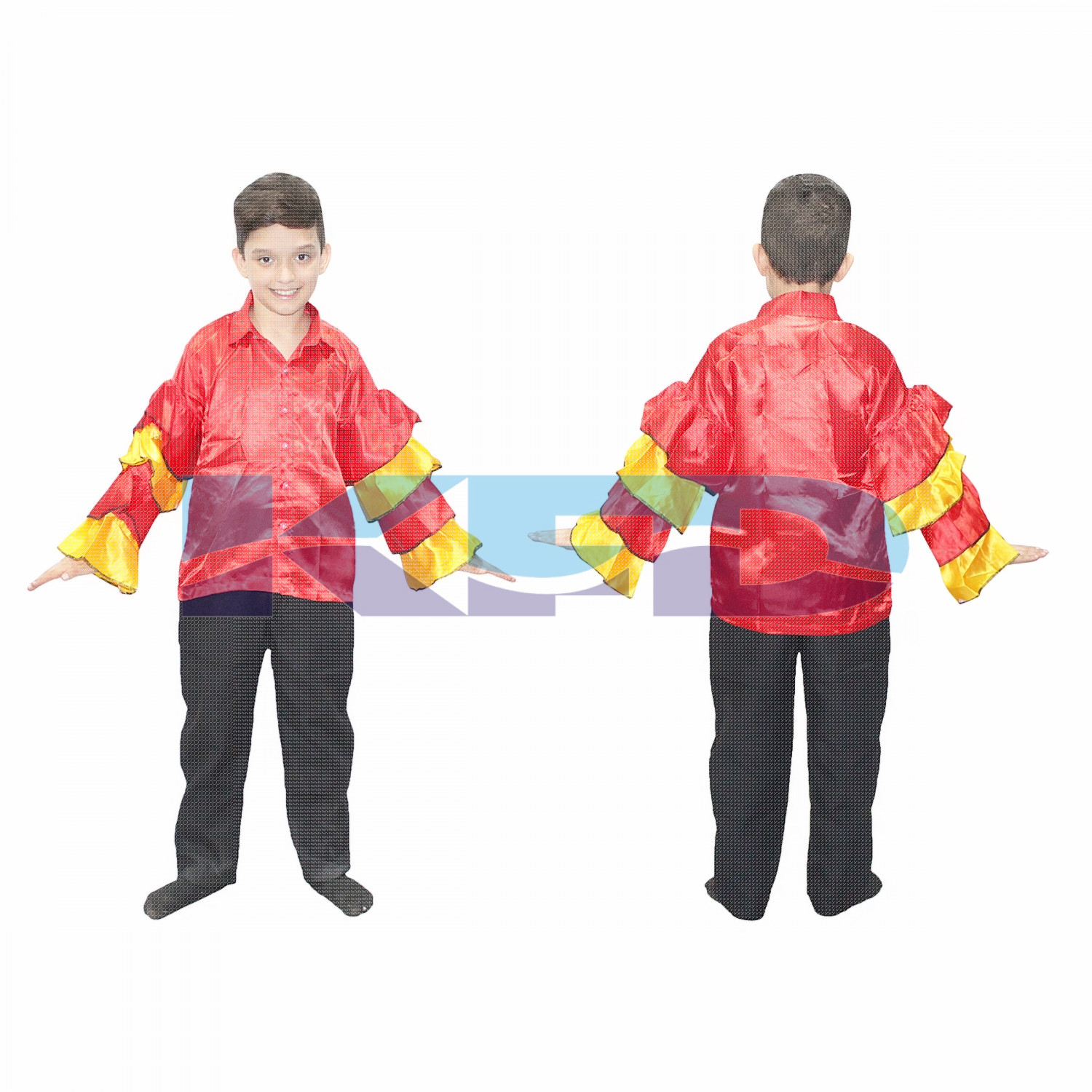 Flamingo Boy fancy dress for kids,Western Costume for Annual function/Theme Party/Competition/Stage Shows/Birthday Party Dress/flamingo dance/laten dance