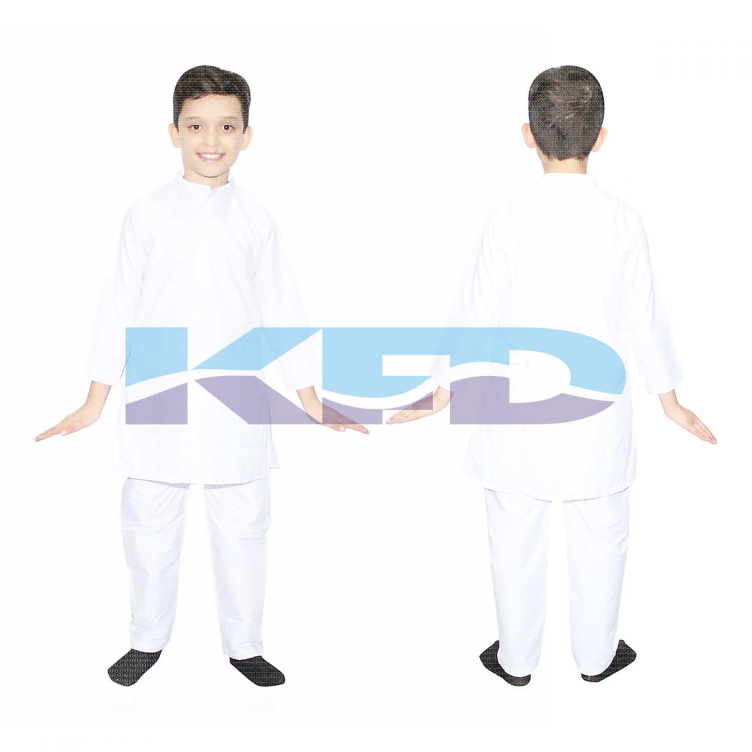 White Kurta Pajama fancy dress for kids,Indian State Traditional Wear for Annual function/Theme Party/competition/Stage Shows/Birthday Party Dress