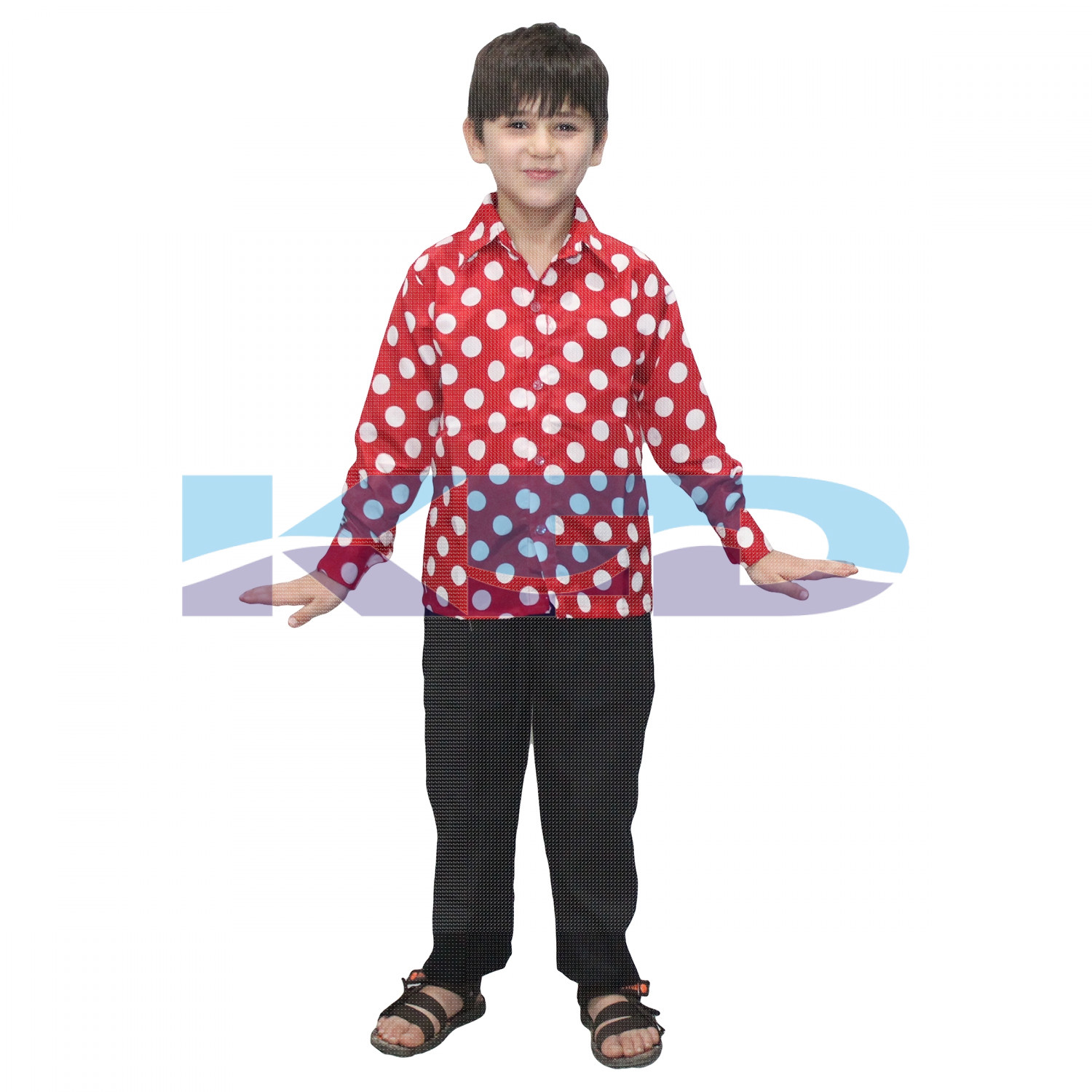 Polka Dot Shirt fancy dress for kids,Western Costume for Annual function/Theme Party/Competition/Stage Shows/Birthday Party Dress