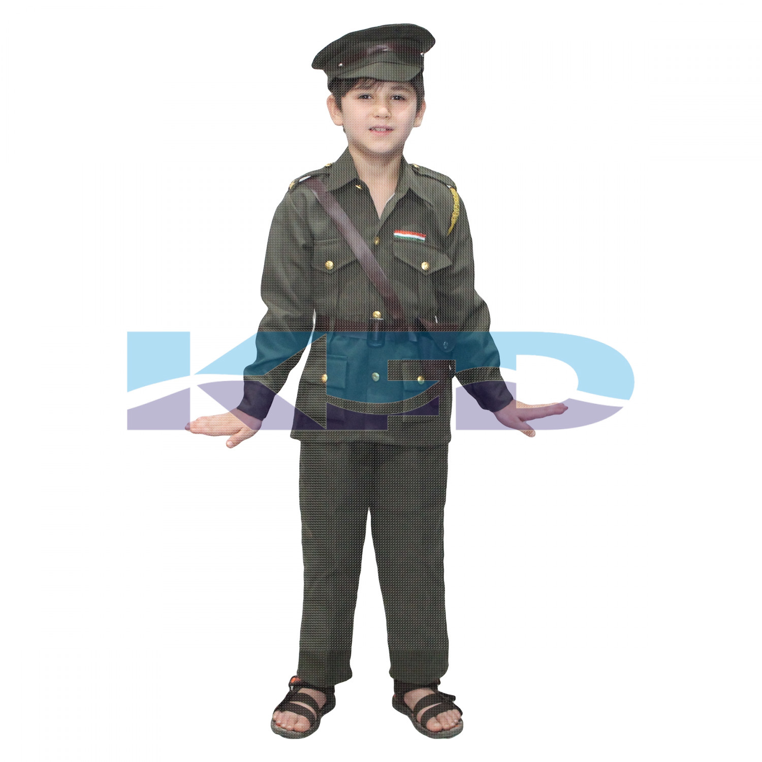 Indian Army Our Helper/National Hero Costume For Kids School Annual Function/Theme Party/Competition/Stage Shows Dress