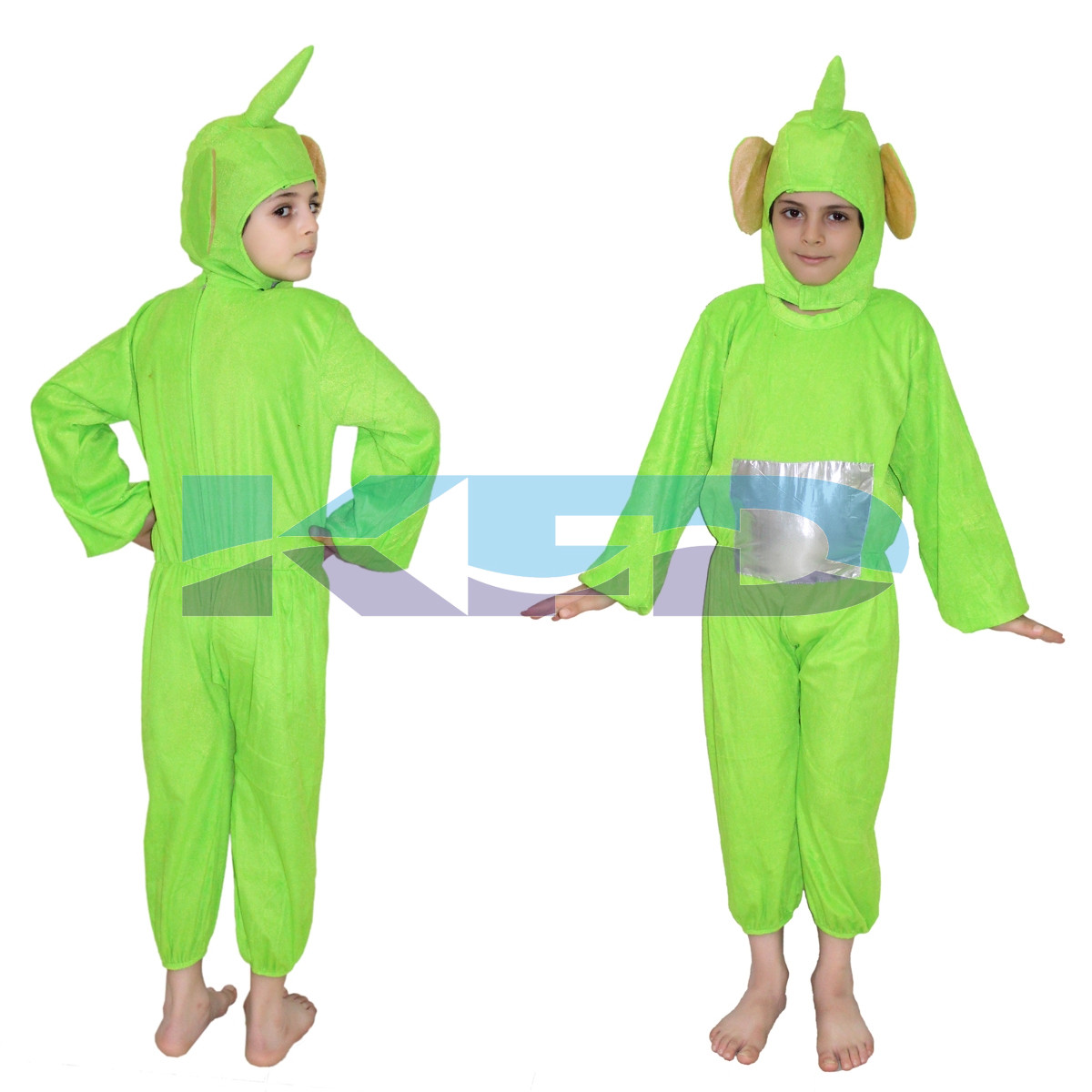 Teletubbies Green Cartoon Costume For School Annual function/Theme Party/Competition/Stage Shows/Birthday Party Dress