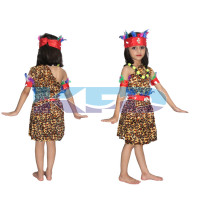 Tribal Girl/Nagaland Girl Fancy dress for kids,Tribal costume for School Annual function/Theme Party/Competition/Stage Shows Dress