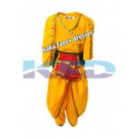 Krishna Belt Without Accessories Bal Krishna Costume For Kids Krishnaleela/Janmashtami/Kanha/Mythological Character For Kids School Annual function/Theme Party/Competition/Stage Shows Dress