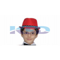 Red Hat Nett For School Annual function/Theme Party/Competition/Stage Shows/Birthday Party Dress