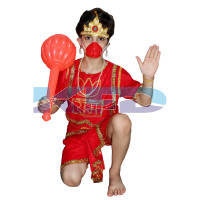 Hanuman Ji fancy dress for kids,Ramleela/Dussehra/Ram Navami/Mythological Character for Annual function/Theme Party/Competition/Stage Shows Dress
