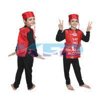 Say No To Drugs and Alcohol fancy dress for kids,Object Costume for School Annual function/Theme Party/Competition/Stage Shows Dress