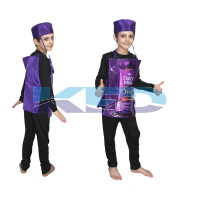 Dairy Milk fancy dress for kids,Object Costume for School Annual function/Theme Party/Competition/Stage Shows Dress