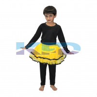 Tu Tu Skirt Yellow  fancy dress for kids,Western Costume for Annual function/Theme Party/Competition/Stage Shows/Birthday Party Dress