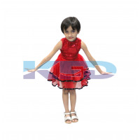 Tu Tu Skirt Red fancy dress for kids,Western Costume for Annual function/Theme Party/Competition/Stage Shows/Birthday Party Dress