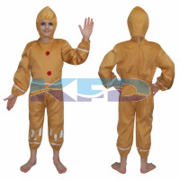 Ginger Bread fancy dress for kids,Fairy Teles,Story book costume for Annual function/Theme Party/competition/Stage Shows/Birthday Party Dress