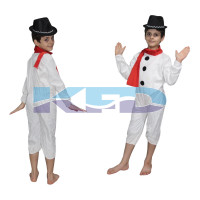 Snow Man Fancy Dress for kids,Fairy Teles,Story book Costume for Annual function/Theme Party/Competition/Stage Shows/Birthday Party Dress