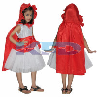Red Riding Hood Fancy Dress for kids,Fairy Tales,Story book Costume for Annual function/Theme Party/Competition/Stage Shows/Birthday Party Dress