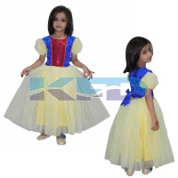 Snow White Fancy Dress for kids,Fairy Teles,Story Book Costume for Annual function/Theme Party/Competition/Stage Shows/Birthday Party Dress