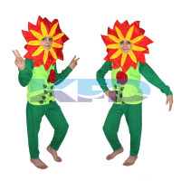 Red Flower Costume,Rose Costume,Nature Costume For School Annual function/Theme Party/Competition/Stage Shows/Birthday Party Dress
