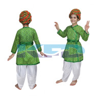 Rajasthani Boy Green Color fancy dress for kids,Indian State Traditional Wear for Annual function/Theme party/Competition/Stage Shows Dress