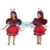 Lady Bird Girl fancy dress for kids,Insect costume for Annual function/Theme Party/Competition/Stage Shows Dress
