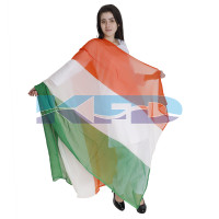 Tri Color Chunni For Kids Independence Day/Republic Day/School Annual function/Theme Party/Competition/Stage Shows/Birthday Party Dress