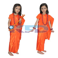 Meerabai fancy dress for kids,Mythological Character for Annual function/Theme Party/Competition/Stage Shows Dress