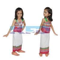 Tripura Girl fancy dress for kids,Indian State Traditional Wear for Annual function/Theme Party/Competition/Stage Shows/Birthday Party Dress
