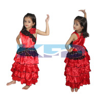 Spanish Girl Traditional Wear Fancy dress for kids,Global Costume for Annual Function/Theme Party/Competition/Stage Shows Dress
