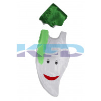 Radish Vegetables Costume only cutout with Cap for Annual function/Theme Party/Competition/Stage Shows/Birthday Party Dress