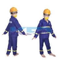 Fire Man Fancy Dress For Kids,Our Helper Costume for Annual Function/Theme Party/Competition/Stage Shows Dress