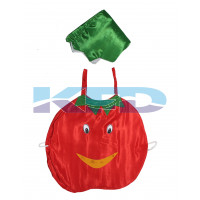 Tomato Vegetables Costume only cutout with Cap for Annual function/Theme Party/Competition/Stage Shows/Birthday Party Dress