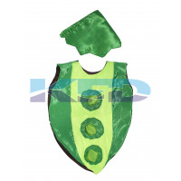 Peas Vegetables Costume only cutout with Cap for Annual function/Theme Party/Competition/Stage Shows/Birthday Party Dress