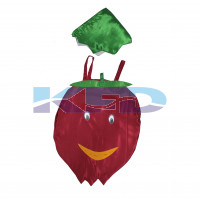 Pomegranate Fruits Costume only cutout with Cap for Annual function/Theme Party/Competition/Stage Shows/Birthday Party Dress