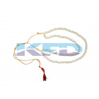 Pearl Mala 2 line White color For Mythological Character/Janmashtami/Dussehra/Diwali/School annual function